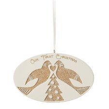 """Specialty """"Our First Christmas"""" Turtle Doves Ornament"""