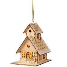 Christmas Craft LED House Ornament