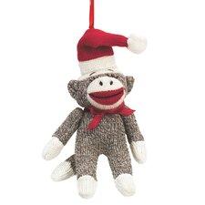 Specialty Sock Monkey Santa Ornament