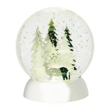 Wonderlights Christmas LED Shimmer Deer and Tree Scene Water Globe