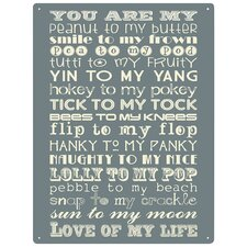 Peanut to my Butter Typography Plaque