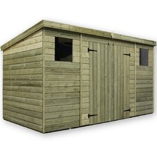 12 x 4 Wooden Lean-To Shed