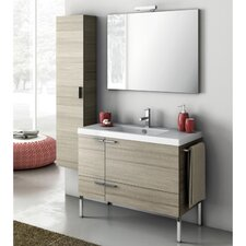 "New Space 39.2"" Single Bathroom Vanity Set with Mirror"