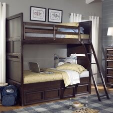 Benchmark Twin over Twin Standard Bunk Bed with Underbed Storage Drawer