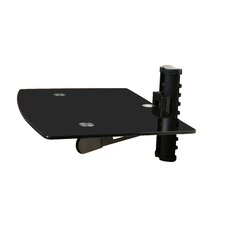 Wall Mounted TV and Component Shelf Combo DVD DVR VCR Wall Mount Bracket
