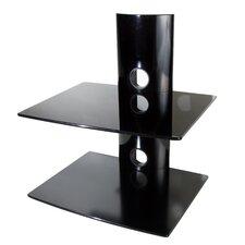 Dual Glass DVD/DVR/Component Wall Mount Shelf