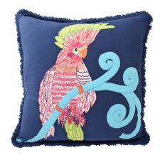 Mexico City Pajaro Cotton Throw Pillow