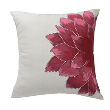 Mexico City Dahlia Silk Throw Pillow