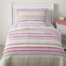 Ragtag Pink Quilted Bedding Set