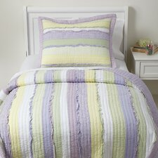 Ragtag Purple Quilted Bedding Set