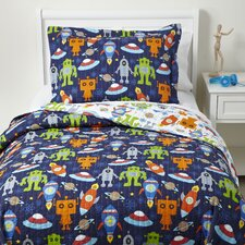 Space Case Quilted Bedding Set