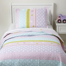 Pretty Polka Quilted Bedding Set