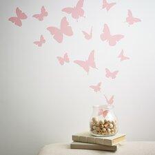 Butterflies Wall Decal (Set of 18)