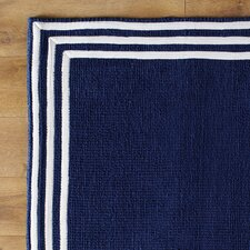Three Strikes Navy Rug