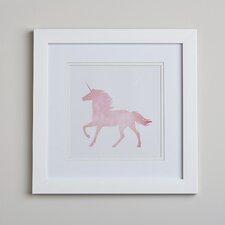 Unicorn Silhouette Framed Print