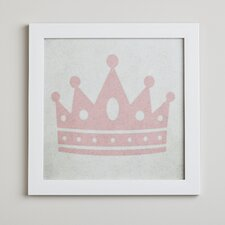 Crown Princess in Pink Framed Print