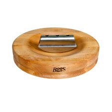 Herb a' Round Cutting Board with Knife