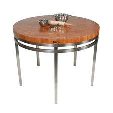 Metropolitan Designer Prep Table with Butcher Block Top