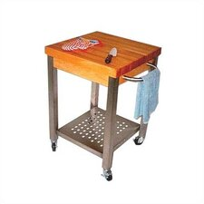 Cucina Americana Kitchen Cart with Butcher Block Top