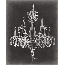'Elegant Chandelier I' by Ethan Harper Painting Print on Wrapped Canvas