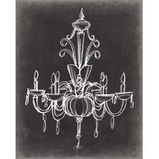 'Elegant Chandelier II' by Ethan Harper Painting Print on Wrapped Canvas