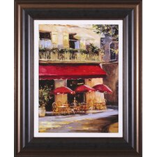 Three Red Umbrellas by Keith Wicks Framed Painting Print
