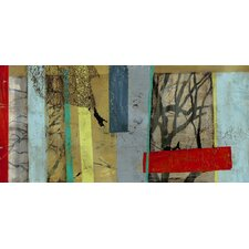 Woven Landscape II by Jennifer Goldberger  Painting Print on Wrapped Canvas