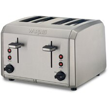 4 Slice Toaster with Dual Control Panel