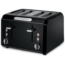 4 Slice Toaster with Dual Control Panels