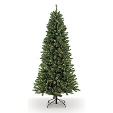 7.5' Green Spruce Artificial Christmas Tree with 500 Clear Lights