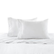 Tsuba Geo 400 Thread Count Cotton Sateen Fitted Sheet