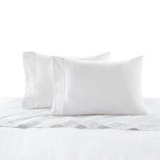 Tsuba Geo 400 Thread Count Cotton Sateen Flat Sheet