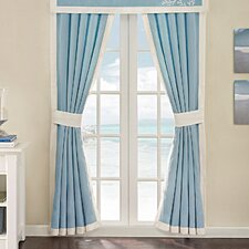 Coastline Cotton Rod Pocket Curtain Panel (Set of 2)