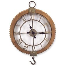 Open Wall Clock with Hook