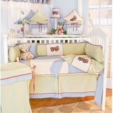 Fire Engine 4 Piece Crib Bedding Set