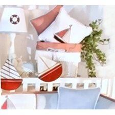 Sail Away Cotton Decorator Pillow