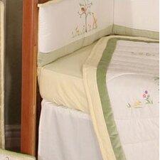 African Plains Gingham Flat Crib Sheet