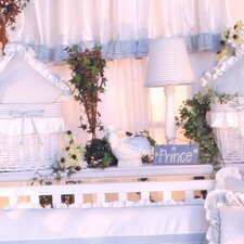 Prince Blue Cotton Curtain Valance
