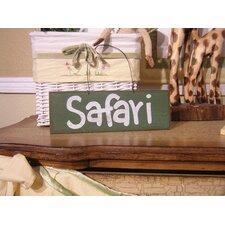 African Plains Safari Sign Hanging Art