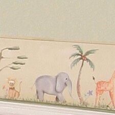 African Plains 15' x 9'' Wildlife Border Wallpaper