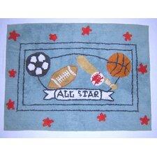 All Star Nursery Blue Area Rug