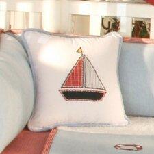 Sail Away Boat Decorator Throw Pillow