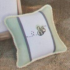 Flutter Bees Bee Frame Decorator Cotton Throw Pillow