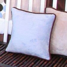 Blue Chocolate Minky Polka Dot Throw Pillow