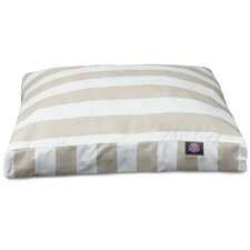 Vertical Stripe Rectangle Pet Bed with Waterproof Denier Base