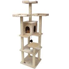 """80"""" H Casita Fur Cat Tree"""