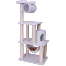 "62"" Bungalow Sherpa Cat Tree"