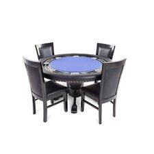 Nighthawk 5 Piece Poker Dining Table Set with Dining Chairs