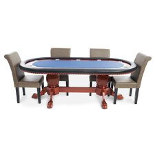 Rockwell 8 Piece Poker Dining Table Set with Lounge Chairs
