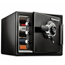 Fireproof Dial with Key Lock Security Safe 0.8 CuFt